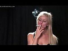 Cherri sexy blonde smoking 120s elegant smoking fetish