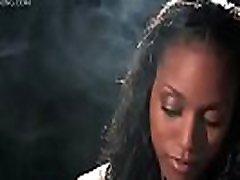 Natalie sexy ebony beauty smoking 120s elegant smoking fetish