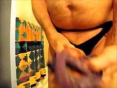 Panty masturbation cumshot