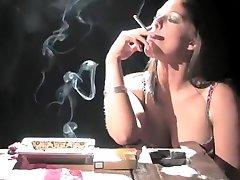 Exotic amateur Smoking, Fetish porn scene
