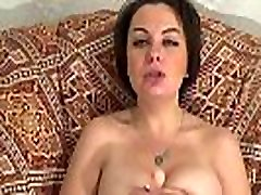 Pleasing your big cock with my huge tits and playfull tongue till you cum in my
