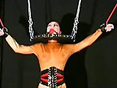 Obedient bitch desires breast bondage stimulation on cam