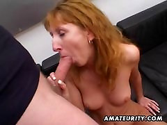 Redhead amateur MILF blowjob