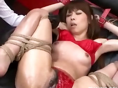 Asian Lubed And Made To Orgasm