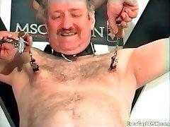 Gay Bondage with hard nip play