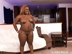 Fat black slut fucked by a thug