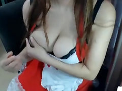 Big breast hairy pussy Asian teases on cam