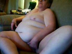 Great stolen video of my chubby granny masturbating