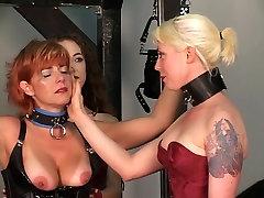 Older man tortures his redead brunette and blonde ebony ashley davis slaves on rack