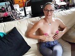 New school sexx girl toy - Nipple thumb cuffs