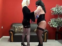 YouPorn - bbw-slave-andreas-lezdom-tit-torture-and-hard-spanking-by-blonde-mistress-angel-punishing-her-chubby-mature-submissive-using-n