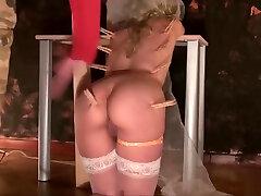 Very hard bride in an homemade scene of BDSM