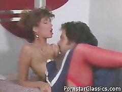 Christy Canyon and Ron Jeremy fucking