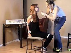 Orgasm mommy with fuck Smg high heels spread bondage slave femdom domination