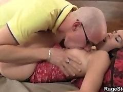 Cheating bitch takes rough banging