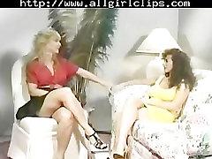 Classic Encounter - Nina Hartley And Keisha Edwards. lesbian girl on girl l