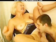 Russian Granny Irina Seduces Young Employer mature mature porn granny old c