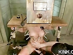 Hot pretty girl dominated in extreme french anal fisting femdom sex
