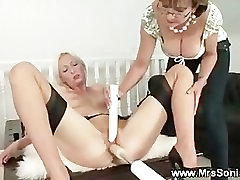 Mature eurotrash fucked with sex machine