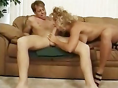 Classic blonde MILF banging