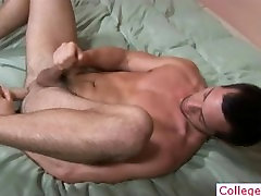 College guy stuffing his ass with dildo part4