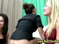 Really sexy bitch rides amatuer cock for cfnm babes