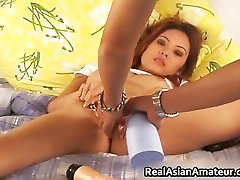 Horny Asian amateur dildo fucking her part2