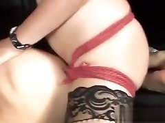 Insatiable Young Starli Enjoys Shoving A Dildo Up Her Slaves Tight Butt