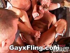Gay Bear Hot Threesome Anal