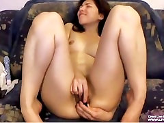 Hairy drunken russian brunette Sunny masturbates