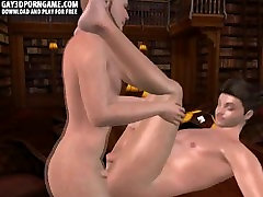 Horny 3D cartoon stud getting his tight ass fucked