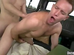 Hot first timer hunks are fucking for the first time