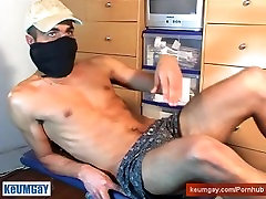 Bachir a real straight arab guy get wanked is very huge cock by us.
