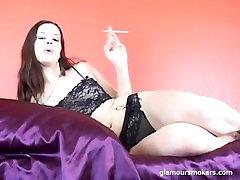 Alexxia Smoking on Webcam