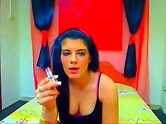 Webcam girl smoking 2 cigarettes at once 2