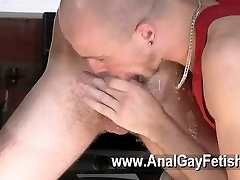 Gay clip of Kieron Knight likes to deep-throat the super-hot cum flow
