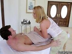 Big ass masseuse Krissy Lynn gets impaled on cock