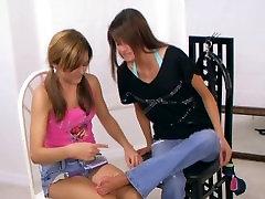 Anatasia & Makenna Self-tickle