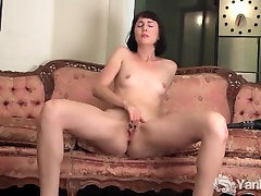 Brunette Coral Spanking Her Ass And Masturbating Her Pussy