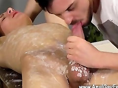 Gay sex Adam is a real pro when it comes to cracking in insane new