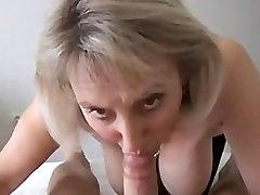 Busty mature blowjob