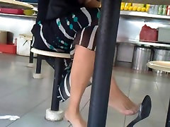 Candid Asian Shoeplay Extreme Dangling Feet