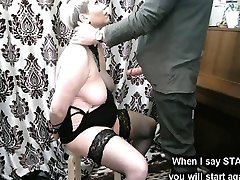 Handcuffed blowjob and other adventures of mature slave slut