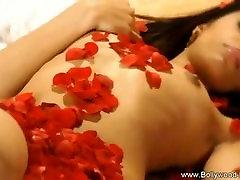 Indian Babe Red Satin Erotic Dancing