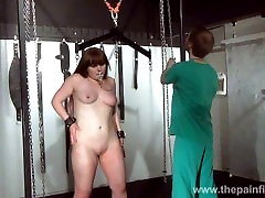 Chubby teen slaves humiliating nose torments and harsh hellpain whipping