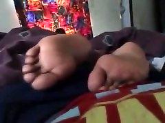 Playing With Sleepy Ebony Feet