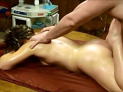 MILF rubdown with oil