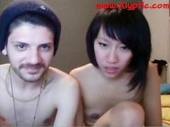 Chinese N White Bf Having Sex On Cam Bj, Dildo, Doggy