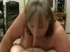 Amateur BBW Sucking Cock