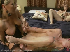 Close-up lesbian anal action!
